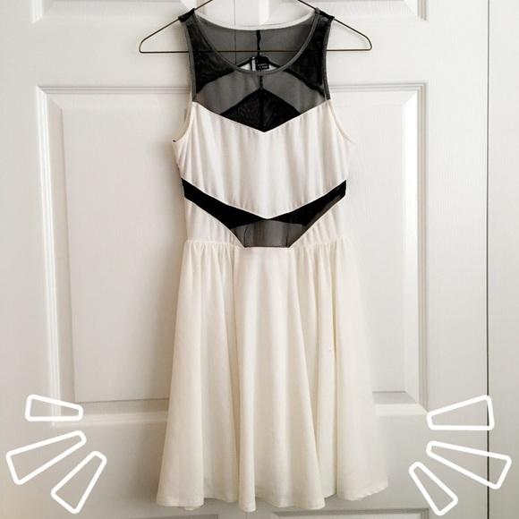 Sparkle & Fade Dresses & Skirts - UO Sparkle & Fade mesh panel skater dress